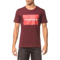 Camiseta Ckj Mc Est Logo Retângulo - Bordo - Pp