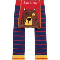 Meia Calça Legging Fluffy Urso Blade And Rose Azul