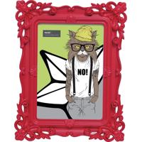 Porta-Retrato Mart Plástico Arabescos 13X18 Vermelho