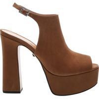 Sandália Salto Nobuck Bold Brown | Schutz