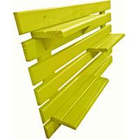 Floreira Vertical Madeira Alce Couch Vaso Parede Amarelo 60Cm - Amarelo - Dafiti