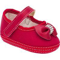 Sapato Com Laã§O Frontal Com Stras- Vermelho- Griffgriff