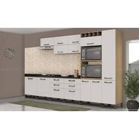 Cozinha Modulada Completa Sem Tampo Com 11 Módulos Sense Nature/Branco - Kappesberg