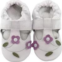 Pantufa Catz Calçados Infantil Couro Salomé Feminina - Feminino-Branco