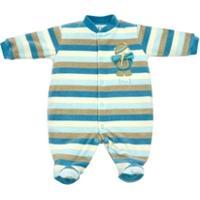 Macacão Longo Bebê Tilly Baby Plush Listrado Escoteiro - Masculino