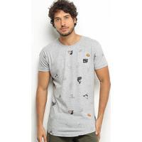Camiseta Hd Mini Ocean Masculina - Masculino-Cinza