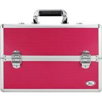 Maleta De Maquiagem Profissional Vazia Jacki Design Grande Reforçada Pink - Kanui