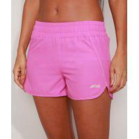 Short Feminino Esportivo Ace Running Cintura Média Pink