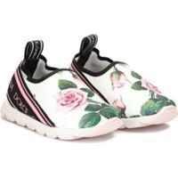Dolce & Gabbana Kids Tênis Sorrento Com Estampa Floral - Estampado