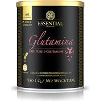 Glutamina 100% Pure 300G - Essential Nutrition - Unissex-Sem Sabor