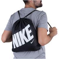 Gym Sack Nike Aop - Preto/Branco