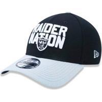 ... Boné 3930 Oakland Raiders Nfl Aba Curva New Era - Masculino-Preto 293108d5df5