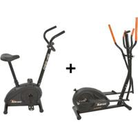 Bicicleta Ergométrica Bp-880 E Eliptico Magnético Polimet - Unissex-Preto