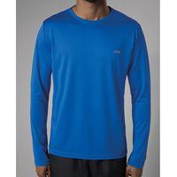 Camiseta Olympikus Essential Manga Longa Masculina - Masculino-Azul