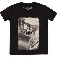 Camiseta Reserva Mini Estampa Pica Pau Aviador - Masculino-Marinho