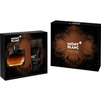 Kit Coffret Montblanc Legend Night Masculino Eau De Parfum 100Ml Com Pós-Barba E Roller Ball