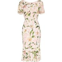 Dolce & Gabbana Vestido Com Estampa Lily - Rosa