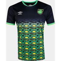 Camisa Seleção Jamaica Away 18/19 S/Nº Torcedor Umbro Masculina - Masculino