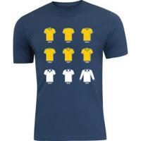 Camiseta Adams Básica Futebol - Masculina - Azul Escuro - Final Copa América Bra X Per - Azul Escuro