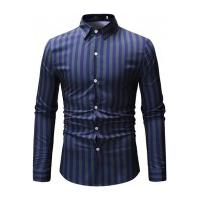 Camisa Social Ml15 Slim Fit - Azul E Verde