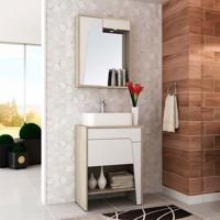 Conjunto Para Banheiro Elisa I Taeda E Branco