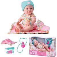 Boneca New Born Maternidade Abre E Fecha Os Olhos 8 Itens Divertoys