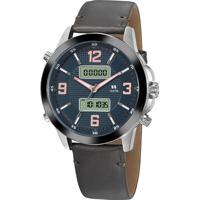 Relógio Analógico Digital Seculus Masculino - 20816G0Sgnr1 Prateado