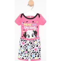 "Pijama ""Paint Your Dreams"" - Pink & Brancopuket"