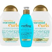 Ogx Coconut Curls E Argan Oil Curling Perfection Kit - Shampoo + Condicionador + Creme De Pentear Ki - Unissex-Incolor