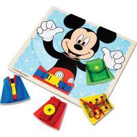 Peças De Encaixe De Madeira - Disney - Mickey Mouse - New Toys