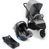 Carrinho De Bebê Travel System Infanti Collina Trio Grey Style Cax00447