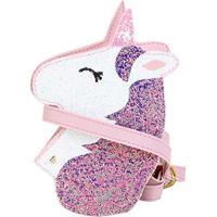 Bolsa Infantil Bibi Unicórnio Glitter Feminina - Feminino-Branco+Rosa