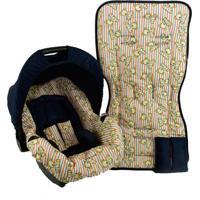 Conjunto Capa Para Bebê Conforto Com Acolchoado Extra E Capa De Carrinho - Alan Pierre Baby - Ursinho Azul