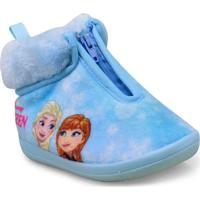Pantufa Fem Infantil Ricsen 207 Frozen Azul