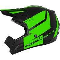 Capacete Cross Th1 Factory Edition Neon Verde Pro Tork