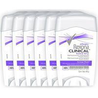 Kit Desodorante Antitranspirante Rexona Clinical Extra Dry Feminino Stick 48G Com 6 Unidades - Feminino