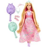 Boneca Barbie Princesa Cabelos Coloridos Ref:Dwh42