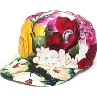 Dolce & Gabbana Kids Boné Com Estampa Floral - Vermelho