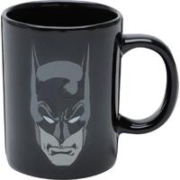 Mini Caneca De Porcelana Batman Dark Face Preto 135 Ml
