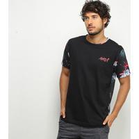 Camiseta Hd Especial Full Prin Masculina - Masculino-Preto