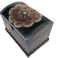 Baú Decorativo Mandala Mdf