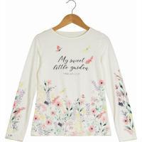 "Blusa Floral ""My Sweet""- Off White & Rosa Claro- Swesweet Lemon"