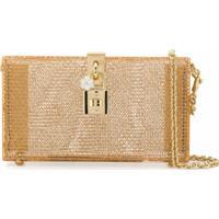 Dolce & Gabbana Clutch Com Corrente - Dourado