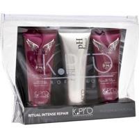 Kit K-Pro Ritual Intense Repair 1 Shampoo 45Ml + 1 Ph Balancer 45G + 1 Condicionador 45G - Unissex-Incolor