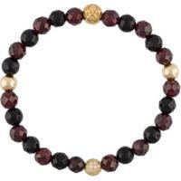 Nialaya Jewelry Pulseira Com Banho De Ouro 18K - Preto