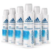 Kit Desodorante Aerossol Adidas Climacool Feminino Com 150Ml Com 6 Unidades Kit Desodorante Aerossol Adidas Climacool Feminino 150Ml 6Un