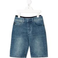 Emporio Armani Kids Denim Shorts - Azul