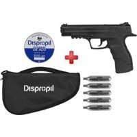 Pistola De Pressão Co2 Daisy 415 4.5Mm + Esferas De Aço Dispropil 500Un. + 5 Cilindros Co2 + Capa - Unissex