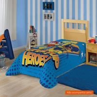 Manta Infantil Patrulha Canina (150X220) Poliéster Azul