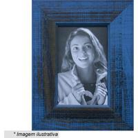 Porta Retrato- Azul & Preto- Tamanho Da Foto: 10X15Ckapos